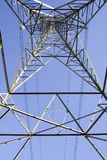 Pylon. View looking up through the middle of a pylon Stock Images