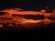 Pylon. At sunset stock photo