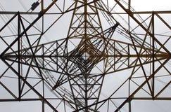 Pylon. Upwards View from below of an Electricity Pylon royalty free stock photo