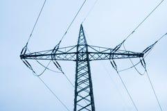 Pylon av en kraftledning Royaltyfri Foto
