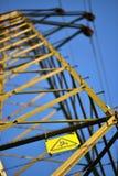 Pylon. Base of an electricity pylon, background, bokeh stock images