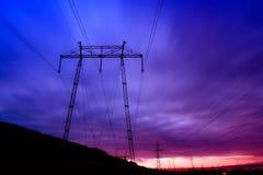 Pylon blue sky landscape Royalty Free Stock Images