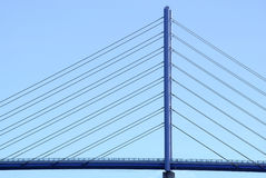 Pylon and Bridge Construction. View of the pylon of the so-called Rugendamm Bridge connecting the mainland and Rugen Island over the Baltic Sea, Baltic Sea Royalty Free Stock Photography