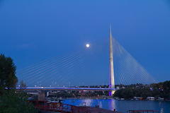 Pylon bridge at dusk Stock Photography