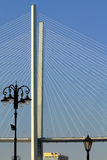 The pylon of the bridge Royalty Free Stock Images