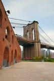 Pylon of Brooklyn Bridge Stock Images