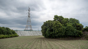 Pylon is build on the countryside Stock Images