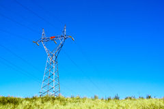 Pylon Connecting High Voltage Electric Power Cables Royalty Free Stock Photography