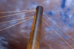 Pylon Detail of the Soleri Bridge across the Salt River Project Stock Photography