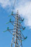 Pylon of electric line. Pylon with high tension cable on sky background Stock Photography