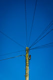 Pylon with Electrical Wire Stock Images