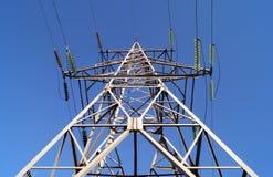pylon för 110 kilovolt powerlineöverföring Arkivbilder