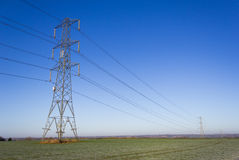 Pylon in a Field Royalty Free Stock Photos