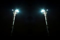 Pylon floodlights Royalty Free Stock Image