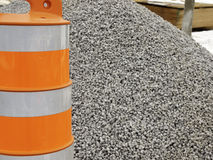 Pylon and Gravel Stock Photos