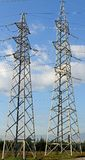 Pylon of the high voltage electric cables Stock Image