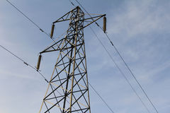 Pylon. Metal Electricity Sky Power Stock Images