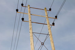 Pylon. Metal Electricity Sky Power Royalty Free Stock Image