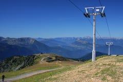 Pylon and Mountain Landscape Stock Images