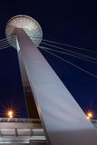 Pylon of new bridge in bratislava Stock Photography