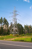 Pylon of the overhead high-voltage power transmission line. Moscow region. Royalty Free Stock Photo