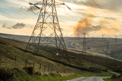 Pylon and pollution Stock Photography