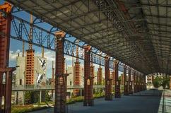 Pylon post industrial. On sunset Stock Photography