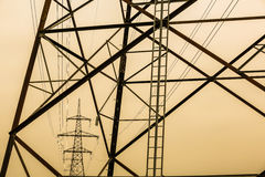 Pylon and power lines Stock Photography