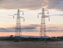 Pylon power Stock Photos
