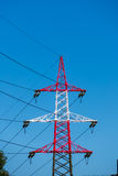 Pylon red and white Stock Image