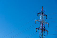 Pylon red and white Stock Images