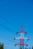 Pylon red and white Royalty Free Stock Image