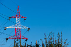 Pylon red and white Royalty Free Stock Images