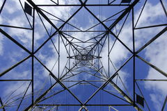 Pylon in the sky. Royalty Free Stock Image