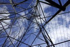 Pylon in the sky. Royalty Free Stock Photo