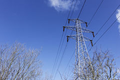 Pylon in the sky. Royalty Free Stock Images