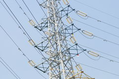 The pylon in sky Stock Images