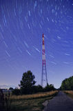 Pylon star trail Stock Image
