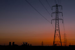 Pylon sunset Stock Photos