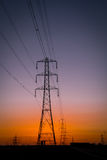 Pylon sunset Stock Image