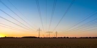 Pylon sunset Stock Photo