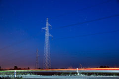 Pylon and traffic Stock Photography