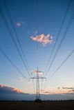 Pylon with transmission lines Stock Image