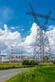 Pylon and transmission power line Royalty Free Stock Images
