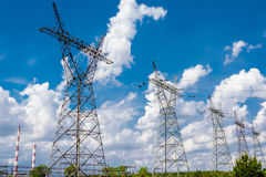 Pylon and transmission power line Stock Image