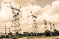 Pylon and transmission power line Stock Photography