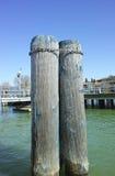 Pylon in trasimeno lake Stock Photos