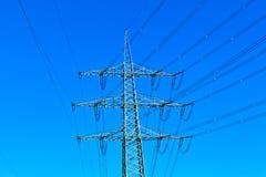 Pylon under clear blue sky Stock Photography