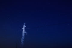 Pylon under starry sky Royalty Free Stock Photography