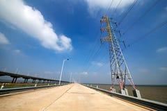 Pylon and viaduct Stock Photo